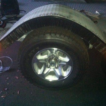 Truck Wheel Spray Suppressants