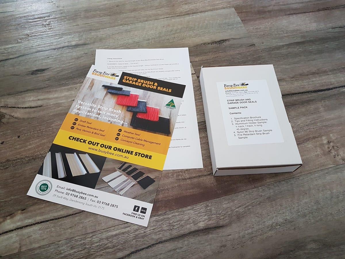 Busy Bee Brushware Strip Brush and Garage Door Seals SAMPLE3