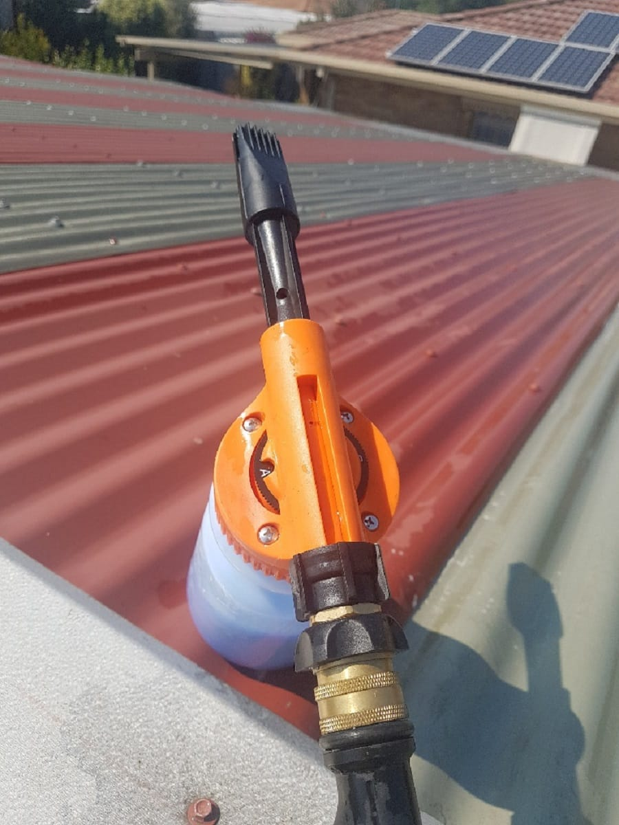 Roof Cleaning Combo Corrugated Roof Brush Soap Foaming